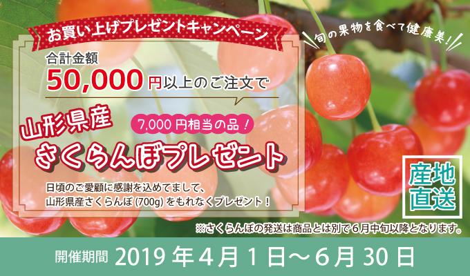5万円以上さくらんぼ